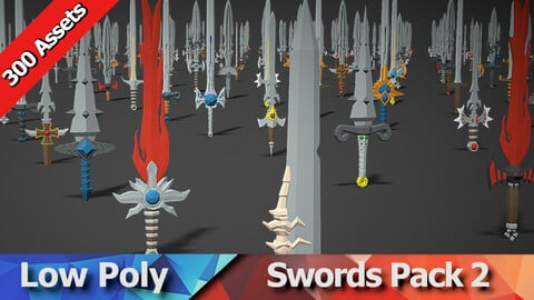 Swords Pack 2 - 300 Low Poly Weapons