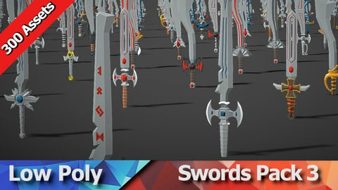 Swords Pack 3 - 300 Low Poly Weapons