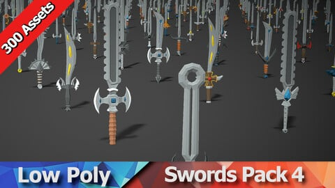 Swords Pack 4 - 300 Low Poly Weapons