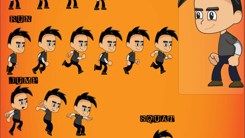 2d sprite character man