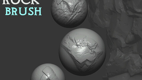 Z brush - Rock  Brushes 1 Volume