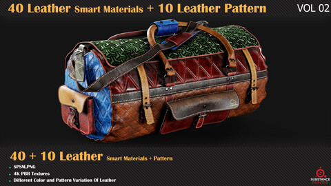 40 Leather Smart Materials + 10 Leather Patterns