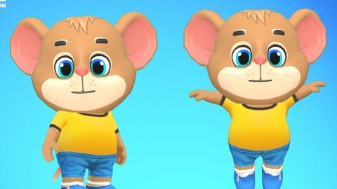 Mouse Rat Rodent Brown Animated Rigged