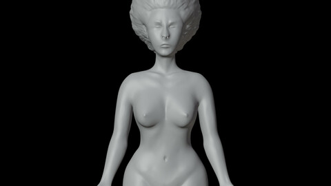 naked woman hairstyle