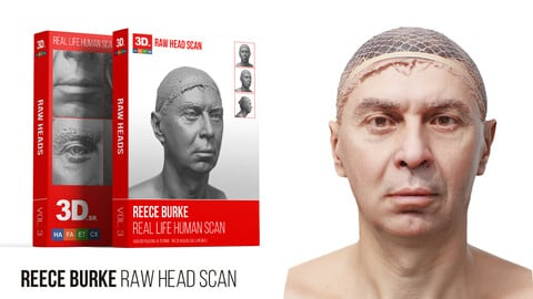 Reece Burke Raw 3D Head Scan