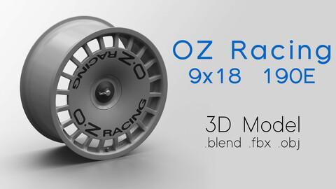 OZ Racing Magnesium Wheel DTM 190E 3D Model