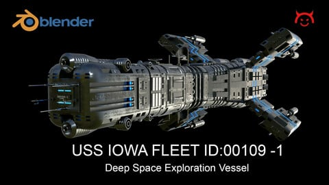 USS IOWA - Deep Space Exploration Vessel