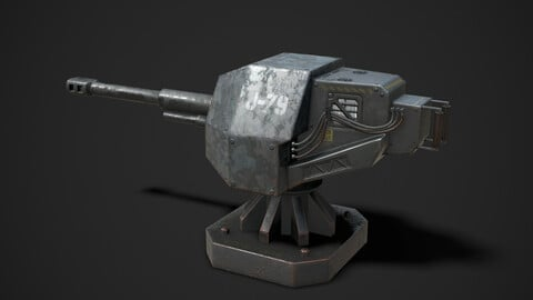 Turret Sentry Game Asset
