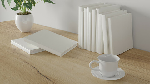 minimal workspace. wall concept template.