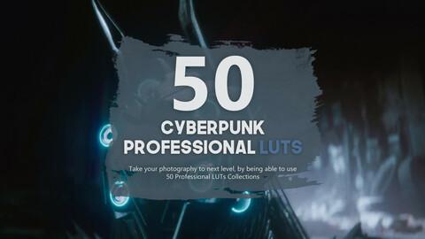 50 Cyberpunk Unity LUTs Pack
