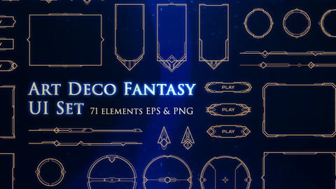 Art Deco Fantasy UI Set