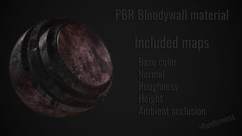 High quality PBR bloodywall material