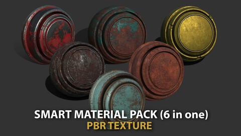 Smart meterial 6 in one pbr texture