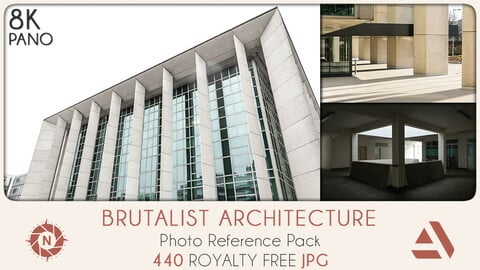 Photo Reference Pack: Brutalist Architecture