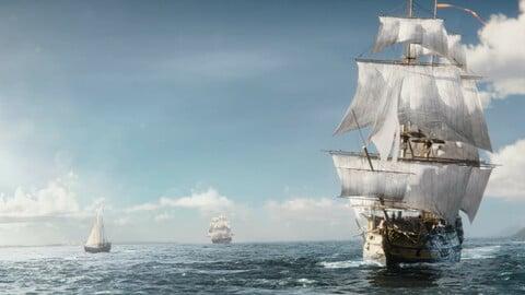 """Spanish Ship """"San Hermenegildo"""". Sail Ship Boat Sea"""