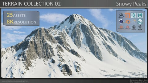 Terrain Collection 02 - Snowy Peaks