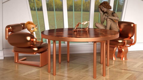 Furniture Set 13 for DAZ Studio