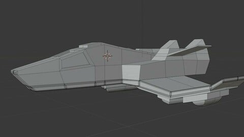 Spaceship Low Poly