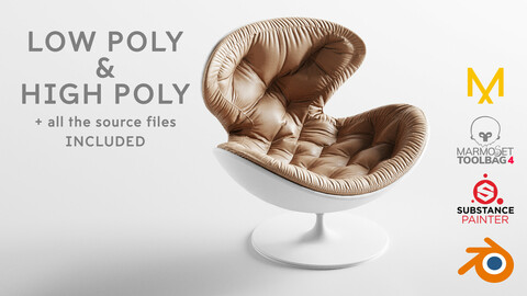Giovannetti Jetson Armchair Low poly and High poly