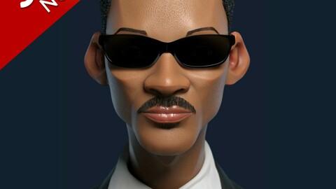 Will smith stylized 3D Model | Blender | OBJ 3D model