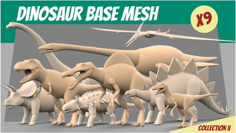 Dinosaur Basemesh Collection