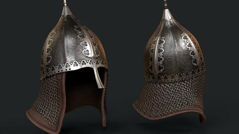 🟥Lowpoly Russian Medieval Helmet