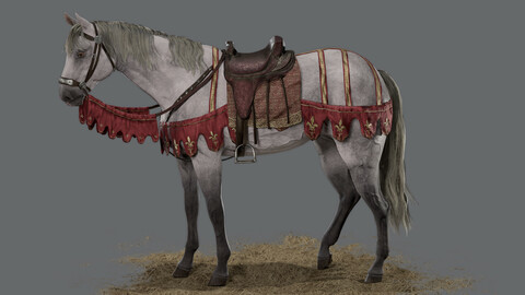War Horse model low poly
