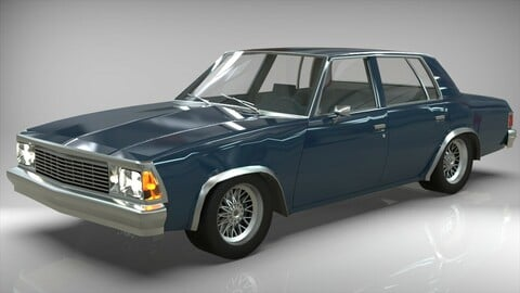 Chevrolet Malibu 1981 lowpoly