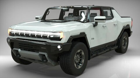 GMC HUMMER EV 2021 Electric truck Low-poly