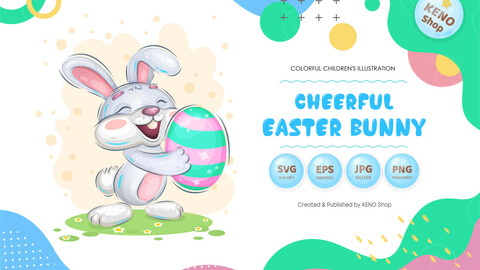 Cheerful easter bunny