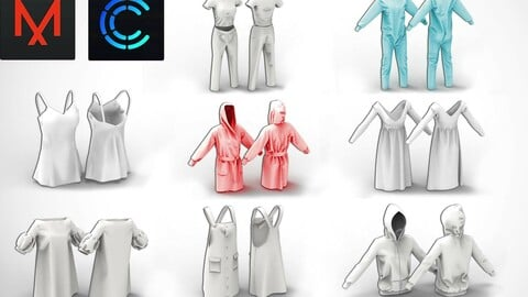 8 HomeClothing Outfits MD / Clo3D