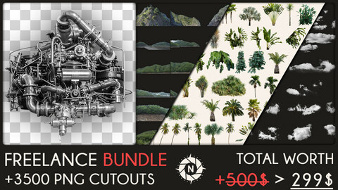 Freelance Bundle: +3500 PNG Cutouts + Free Updates