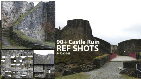 90+ Castle Ruin / Rock Reference Pack