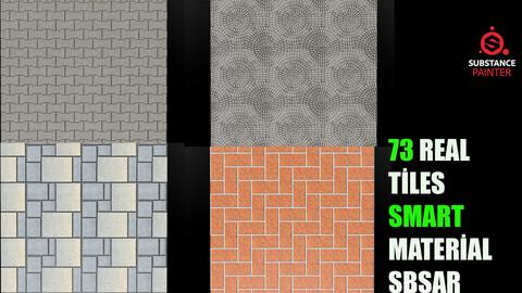73 Real Tiles Sbsar-Sbsm  Smart Material