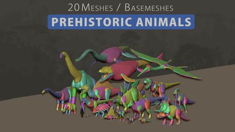 3D Animal Basemesh - Prehistoric Pack
