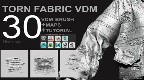 VDM -  Torn Fabric Brushes  + Full Maps