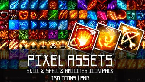 Pixel Assets: Skill & Spell & Abilites Icon Pack[+150] #1