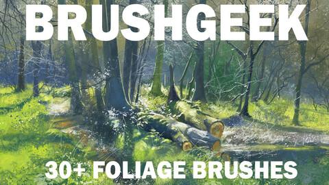 Brushgeek Foliage brushes for PS