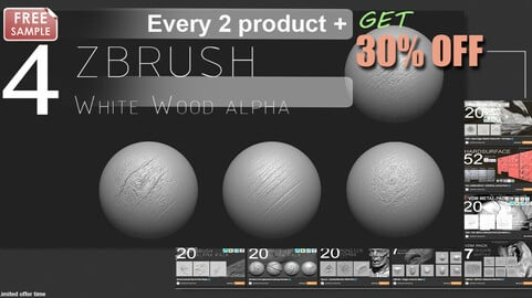 FREE ALPHA WOOD PACK - ZBRUSH