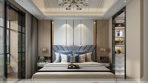 Interior - Modern Style Bedroom - 582