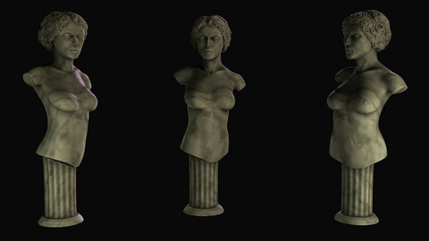 Marble female bust