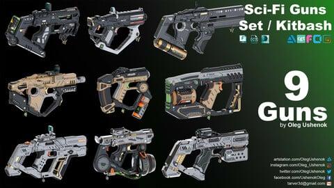Sci-Fi Guns Set / Kitbash