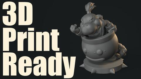 3D Print Ready Bowser Jr.