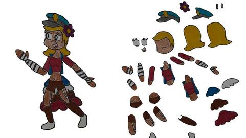 Anime Dancer 2D Puppet