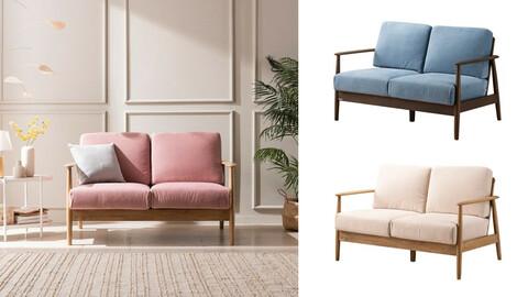 All New Tam 2-person fabric sofa 8colors