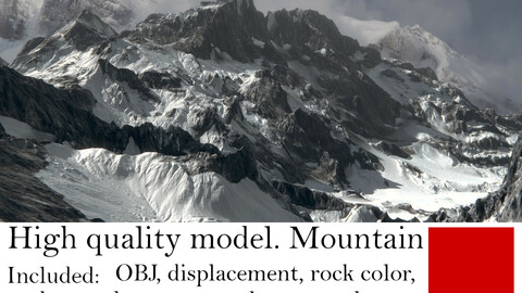 High quality model. Mountain.