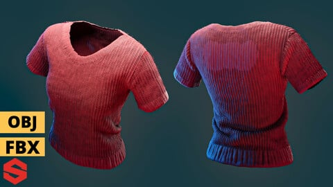 T-shirt project .FBX*OBJ & texture