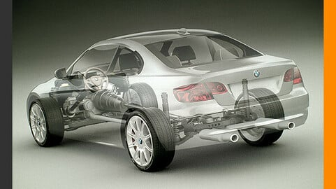 BMW 3 Series Coupe with Chassis and Engine