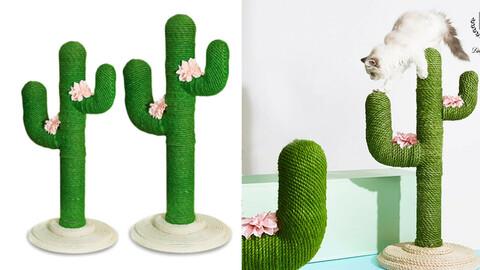 Pet Cat Stand Cactus Scratcher