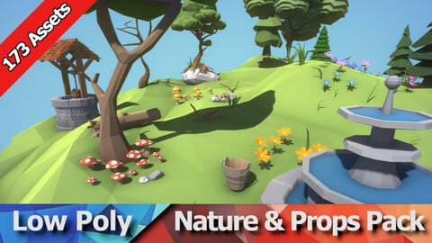 Low Poly Nature and Props Pack